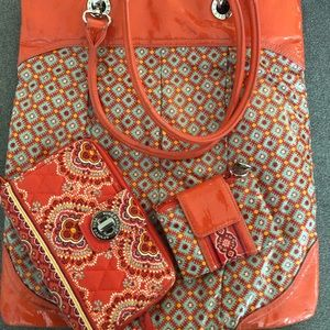 Vera Bradley Paprika Tote with Wallet &Coin Purse